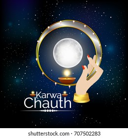 nice and beautiful abstract for Karwa Chauth with nice and creative design illustration in a background.