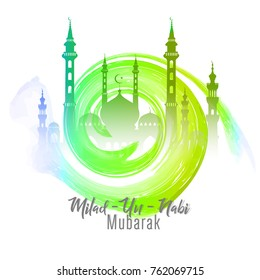 nice and beautiful abstract for Milad Un Nabi Mubarak with nice and creative design illustration.
