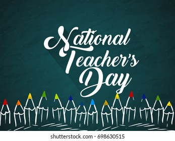 nice and beautiful abstract for National Teacher's Day with nice and creative design illustration in a background.