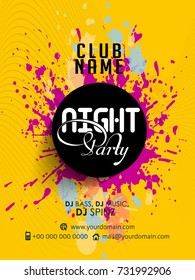 nice and beautiful abstract or Night Party Flyers with nice and creative design illustration.