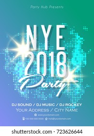 nice and beautiful abstract for NYE 2018 Party Flyer with nice and creative design illustration.