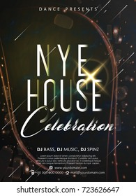 nice and beautiful abstract for NYE House Celebration Party Flyer with nice and creative design illustration.