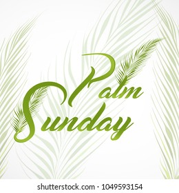nice and beautiful abstract for Palm Sunday with nice and creative design illustration of a palm leaf in a background.