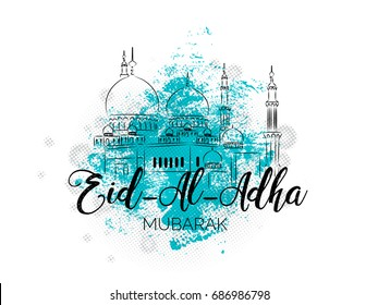 nice and beautiful abstract or poster for Eid Al Adha with nice and creative design illustration in a background.
