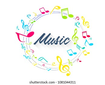 nice and beautiful abstract or poster for International Music Day or Music Background with nice and creative design illustration.