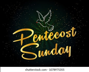 nice and beautiful abstract or poster for Pentecost Sunday with nice and creative design illustration in background.