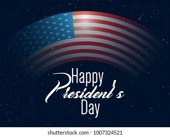 nice and beautiful abstract for President Day of USA with nice and creative design illustration.