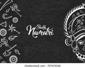nice and beautiful abstract for Shubh Navratri with nice and creative design illustration in background.