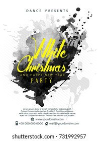 nice and beautiful abstract or White Christmas & Happy New Year Party Flyers with nice and creative design illustration.
