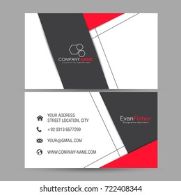 nice and beautiful business card design illustration in a background.