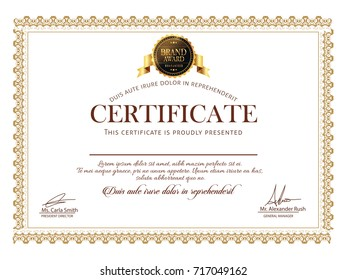 nice and beautiful Certificate Design templates with nice and creative illustration.