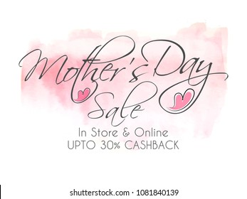 nice and beautiful sale abstract or poster for Mother's Day,  Mother's Day Sale with creative design illustration.