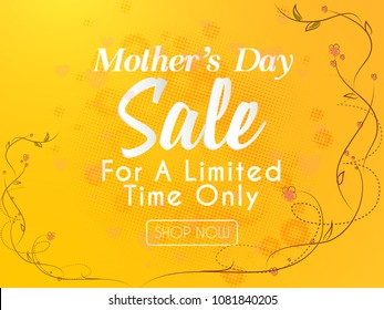 nice and beautiful sale abstract or poster for Mother's Day,  Mother's Day Limited Time Sale with creative design illustration.