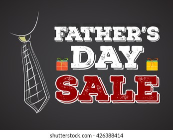 nice and beautiful vector abstract for Father's Day Sale with nice and creative tie illustration in a beautiful background.