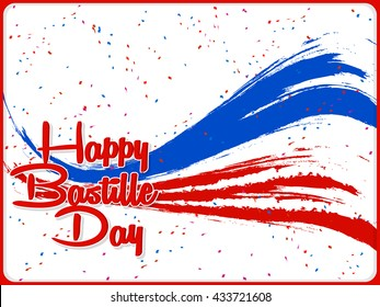 nice and beautiful vector abstract for Happy Bastille Day with nice and creative illustration in a background.