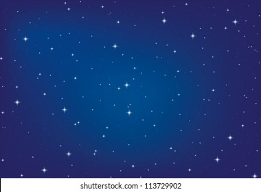 nice bright stars in the night sky, vector eps10