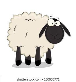 Nice cartoon vector sheep