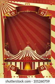 Nice circus big top. A circus poster with three big tops for your advertising