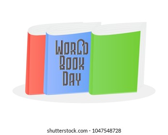 nice and creative abstract for World Book Day with nice and creative design illustration.