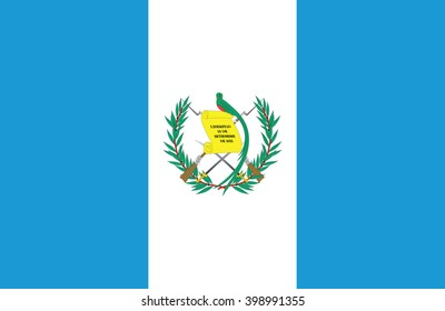 Nice drawing of amazing horizontal Guatemalan flag.