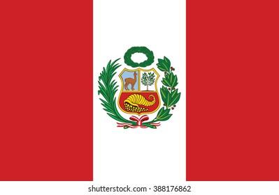 Nice drawing of amazing horizontal Peruvian flag.