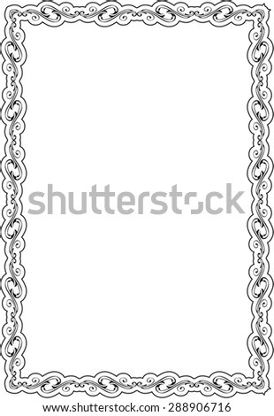 Nice Frame Isolated On White Stock Vector (Royalty Free) 288906716 ...