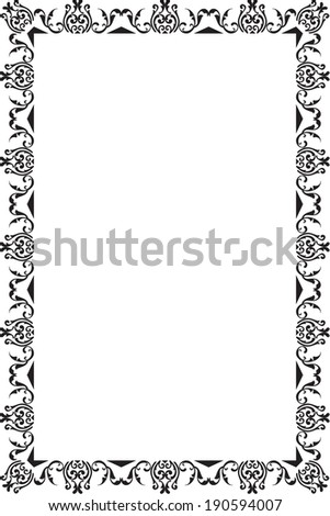 Nice Frame On White Stock Vector (Royalty Free) 190594007 - Shutterstock