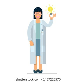 nice illustration of woman inventor scientist