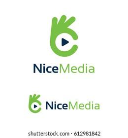 Nice Media Logo Template Design