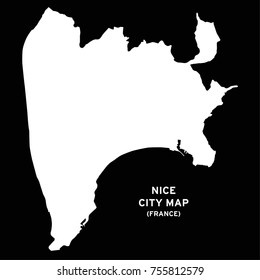 Nice or Nica or Nissa or Nizza, France city map vector
