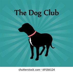 Nice Poster with Dog Silhouette