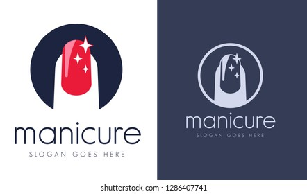 Manicure logo images stock photos vectors shutterstock for Uniform spa vector