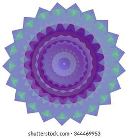 Nice symmetrical mandala isolated on white background