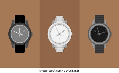 Nice Watches Set Flat Collection