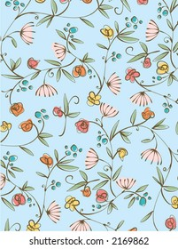 Nice Whimsical Floral background