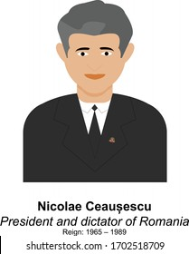 Nicolae Ceausescu President and Dictator of Romania