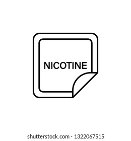 nicotine patch, smoke healthcare icon. Element of quit smoking for mobile concept and web apps icon. Thin line icon for website design and development, app development