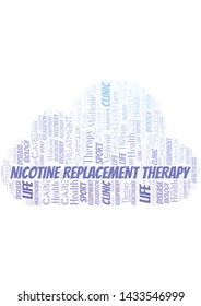 Nicotine Replacement Therapy word cloud. Wordcloud made with text only.
