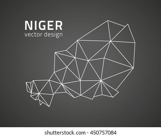 Niger vector trinagle modern map