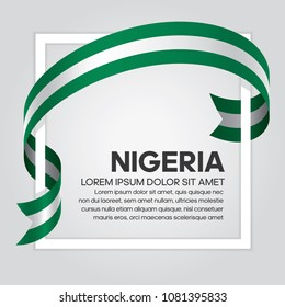 Nigeria flag background