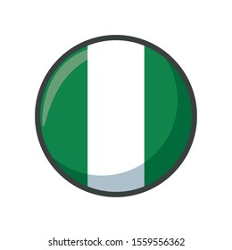 nigeria flag design, country national state patriotism united world and international theme Vector illustration