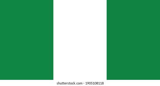 Nigeria flag national emblem graphic element Illustration template design