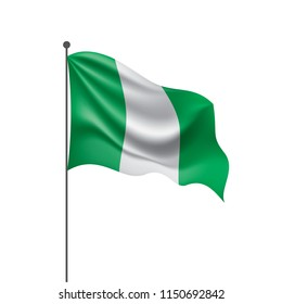 Nigeria flag, vector illustration