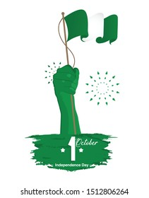 Nigeria Independence Day Greetings. 1st of October. vector