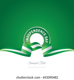 Nigeria Independence Day ribbon logo icon