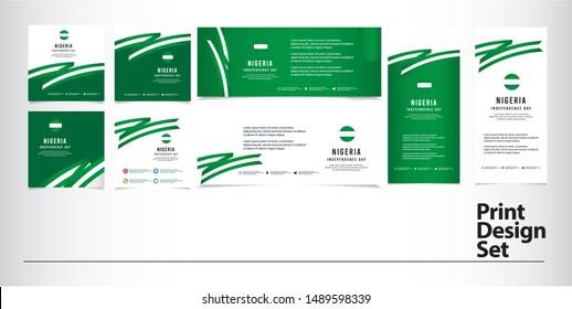 Nigeria national day bundle design template set