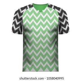 Nigeria national soccer team shirt in generic country colors for fan apparel.