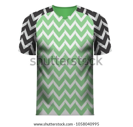 hot sale online 27234 1b89a Nigeria National Soccer Team Shirt Generic Stock Vector ...