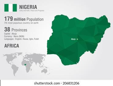 Nigeria Map Images, Stock Photos & Vectors | Shutterstock