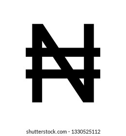 Nigerian Naira  icon. Nigerian Naira  sign. vector
